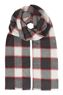 JOHNSTONS Plain border scarf
