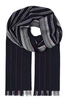 JOHNSTONS Turban stripe scarf