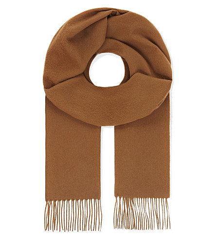 JOHNSTONS Vicuña tasselled scarf (Vicuna