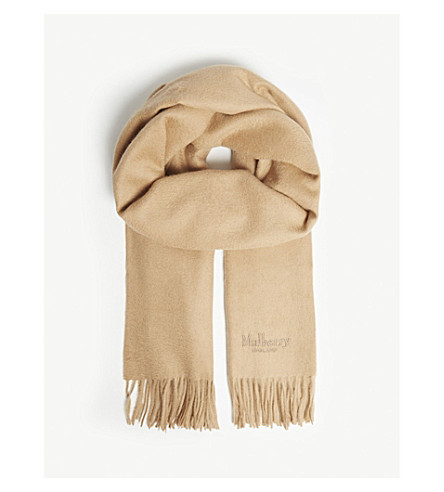 MULBERRY Wool scarf (Camel