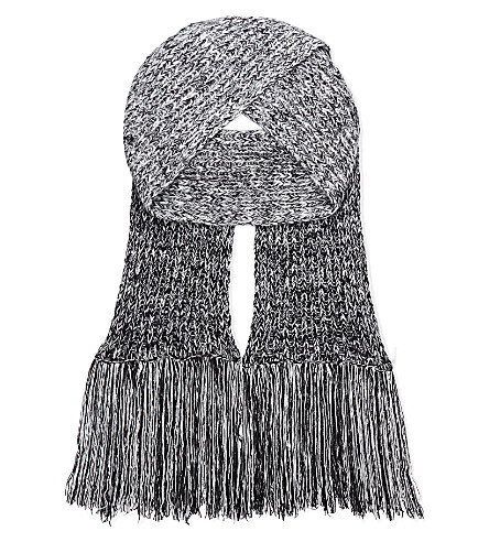 pringle cable knit wool scarf