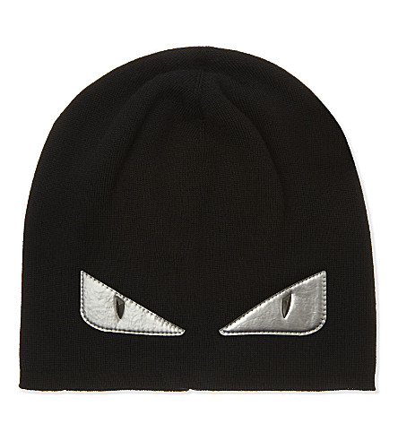 FENDI Monster eyes hat (Silver+blk