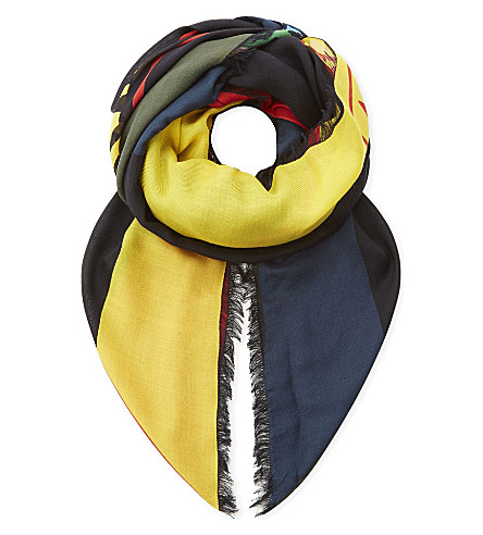 FENDI Kefiah silk-blend scarf (Multi