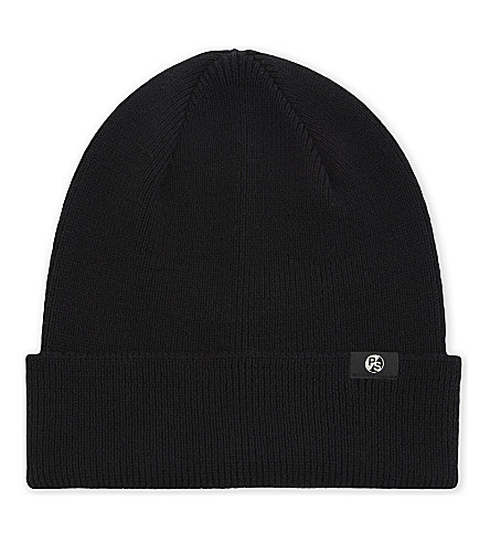 PAUL SMITH ACCESSORIES Knitted beanie (Black
