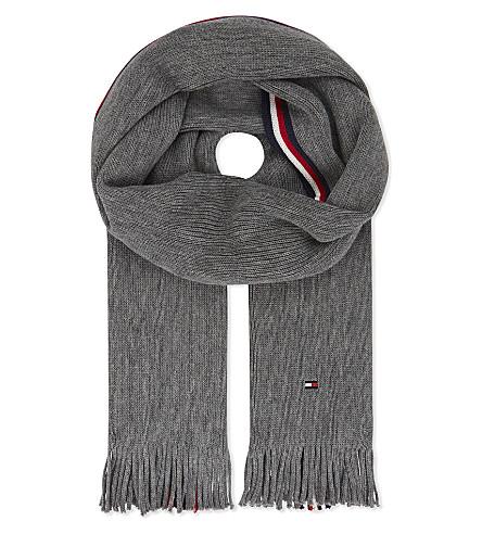 TOMMY HILFIGER Raschel stripe scarf (Grey