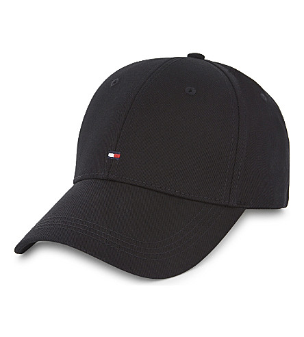 TOMMY HILFIGER Classic cotton baseball cap (Black