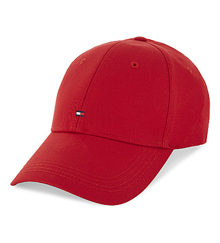 TOMMY HILFIGER Logo cotton baseball cap (Red