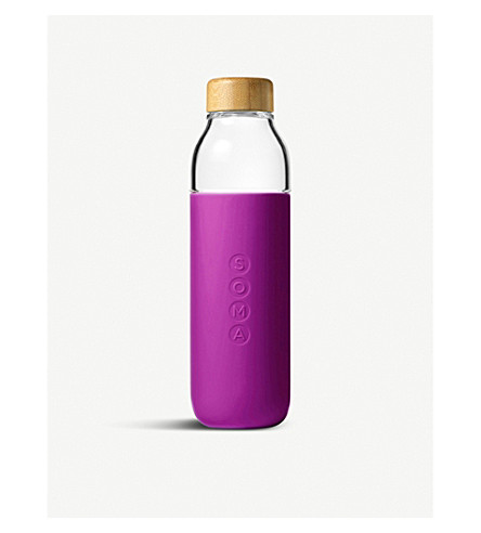 SOMA 480ml glass and silicone water bottle