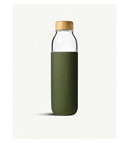 SOMA Glass and silicone water bottle 480ml