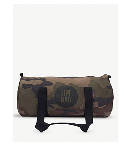 JIMBAG Camo canvas barrel bag