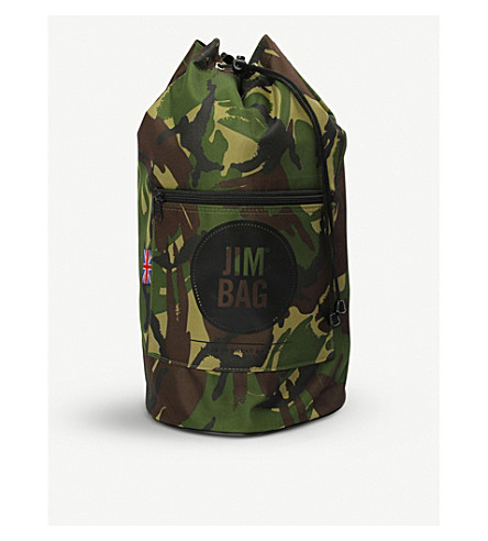 JIMBAG Camo canvas duffle bag