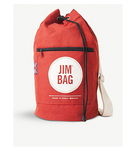JIMBAG Red canvas duffle bag