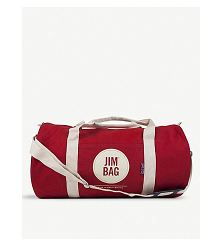 JIMBAG Red canvas holdall bag
