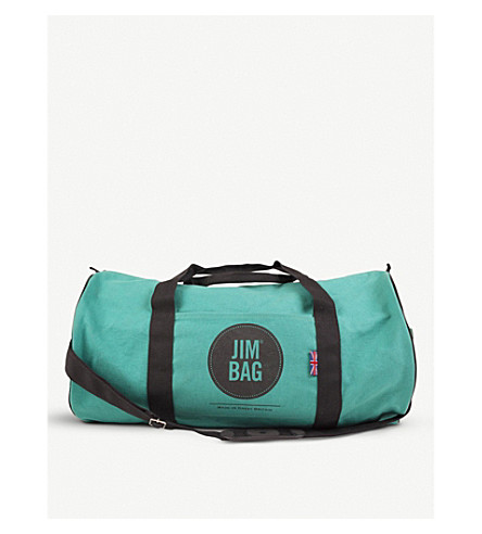 JIMBAG Turquoise canvas holdall bag