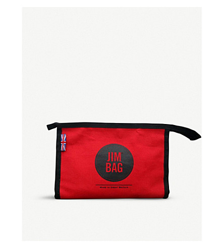 JIMBAG Red canvas washbag