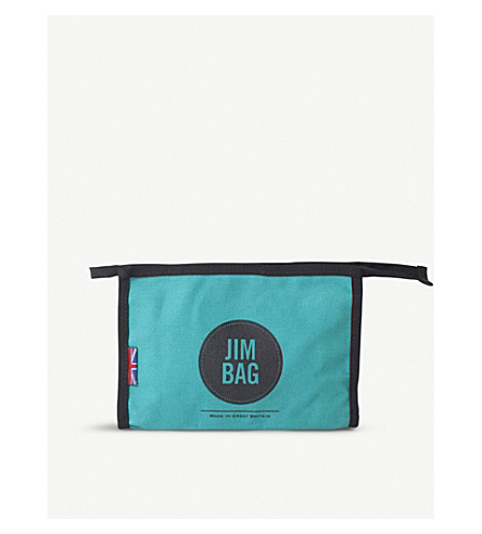 JIMBAG Turquoise canvas washbag