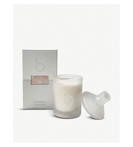 BAMFORD Fig Leaf double wick scented candle 300g