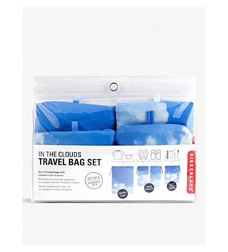 Kikkerland cloud print travel bag set of four selfridges previousnext gumiabroncs Choice Image