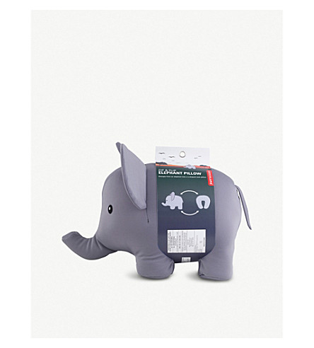 KIKKERLAND 拉链和翻转大象旅行枕头