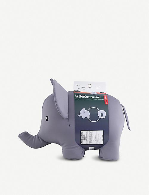 Kikkerland selfridges shop online kikkerland zip flip elephant travel pillow gumiabroncs Choice Image