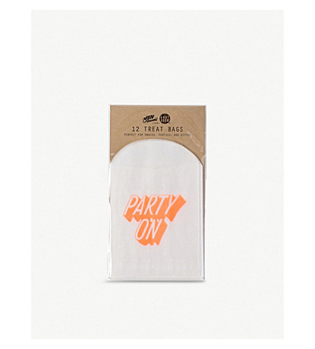 KNOT & BOW Party On treat bags pack of 12