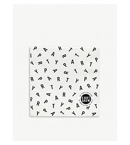 KNOT & BOW方印纸餐巾包 20