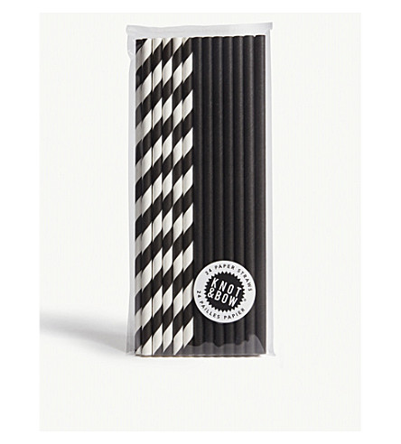 KNOT & BOW Premium paper straws pack of 24