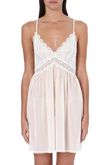 MIMI HOLLIDAY Silk and lace slip
