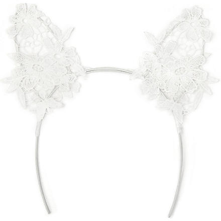 MIMI HOLLIDAY Damaris lace cat ears (White
