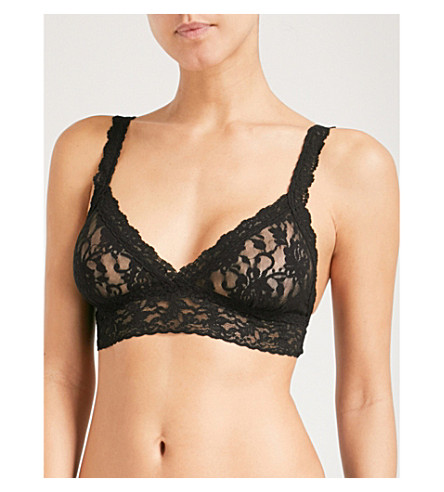 HANKY PANKY Signature lace non–wired bra (Black