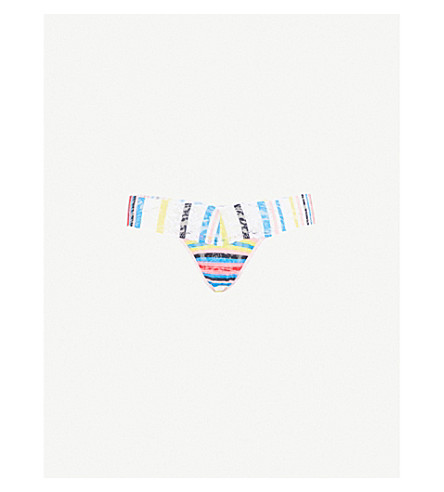 HANKY PANKY Brighton Stripe stretch-lace low-rise thong (Multi