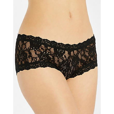 HANKY PANKY Signature Lace boy shorts black (Black