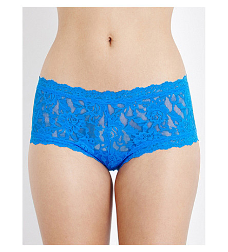HANKY PANKY Signature stretch-lace boyshort briefs (Bali+blue