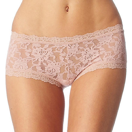 HANKY PANKY Signature Lace boy shorts (Desert+rose