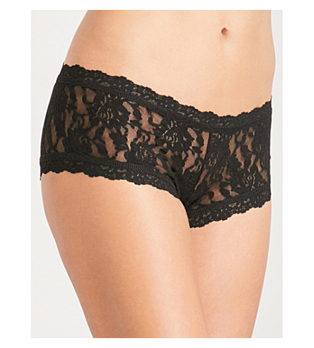 HANKY PANKY Signature stretch-lace boyshort briefs (Black