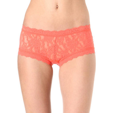 HANKY PANKY Signature lace boy shorts (Crush