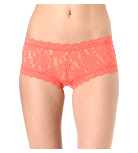 HANKY PANKY Signature stretch-lace boyshort briefs (Crush