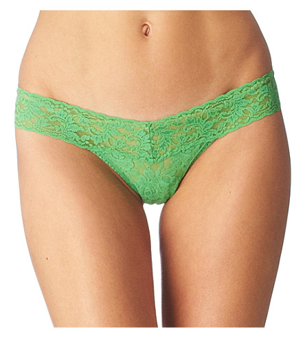 HANKY PANKY Signature Lace thong (Grass