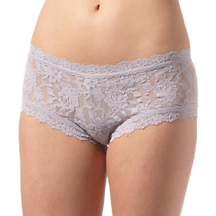 HANKY PANKY Signature Lace boy shorts (Steel