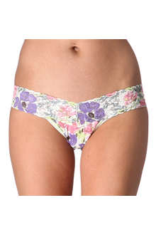 HANKY PANKY Poppies low-rise lace thongs