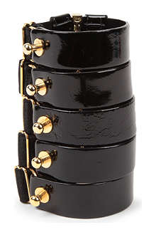 BORDELLE Patent leather zip cuff
