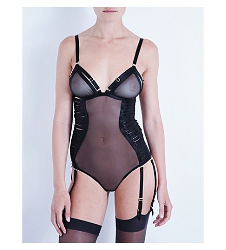 BORDELLE Bondage-Belle mesh body (Black