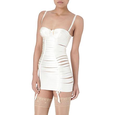 BORDELLE Classic Angela corset dress (Cream