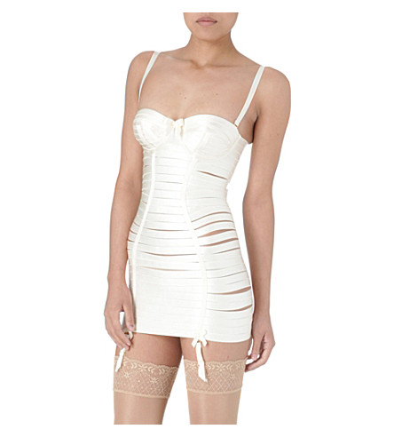 BORDELLE Angela girdle dress (Cream