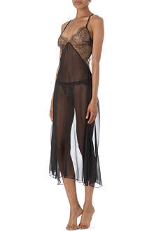 DIRTY PRETTY THINGS Lorelei lace and silk long slip