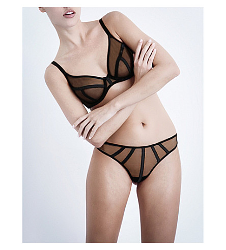 IMPLICITE Talisman plunge bra (Black