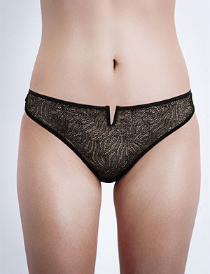 IMPLICITE Pulsion stretch-tulle thong