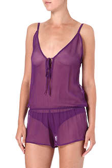 BEAUTIFUL BOTTOMS Ultra Violet sheer playsuit