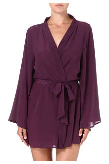 BEAUTIFUL BOTTOMS Silk-crepe short robe