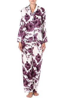 BEAUTIFUL BOTTOMS Winter Rose silk pyjama set